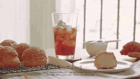 【甜品教程】超大奶油泡芙制作教程 浓香酥脆的完美结合!