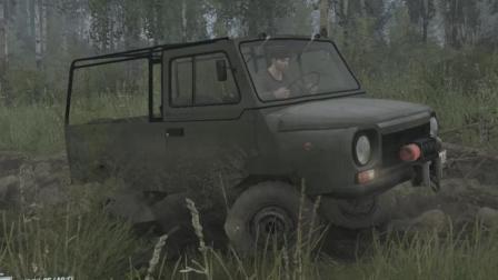 旋转轮胎: 泥泞奔驰 山谷DLC C6317救援面包车 驾驶MAZ535解锁全部盲点 实况解说视频