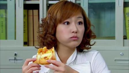 小菊的秋天羽心假怀孕, 在家不能好好吃东西, 一早去公司又是三明治又是披萨