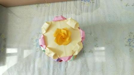 创意折纸蛋糕, 折纸多层蛋糕, 是不是很漂亮