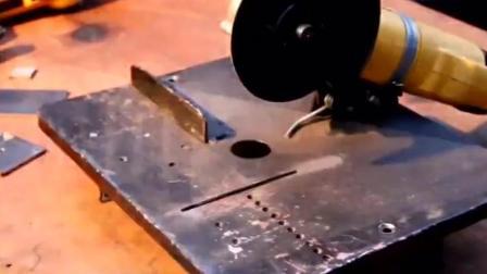 国外牛人自制一个台锯, 动手能力真心强悍