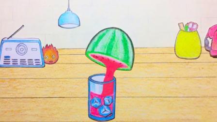 原创定格动画: 用定格动画制作一杯果汁, 太有趣了