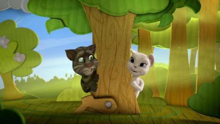 幼儿提高情商 汤姆猫与安吉拉幸福快乐的在一起 聆听动人的英文歌