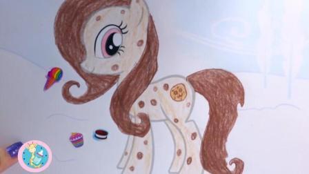 小马宝莉简笔画独角兽贴冰雪公主图案超美
