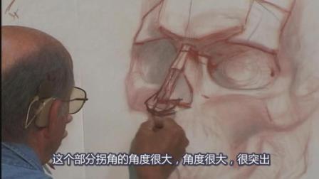 Glenn Vilppu[头部解剖素描]Head2精细示范, 中文字幕版!