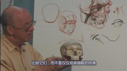 Glenn Vilppu 经典[头部解剖素描]Head1精细示范, 中文字幕版!