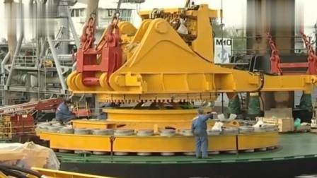 德国生产的重型挖掘机, 光轮胎就几吨重了, 工业