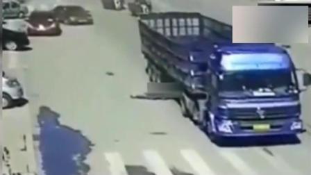真正的用生命去碰瓷, 货车司机想救他都已来不及