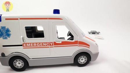 汽车玩具拆箱救护车模型拼装