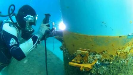 带你看看水下焊接的过程, 和普通焊接有什么不同?