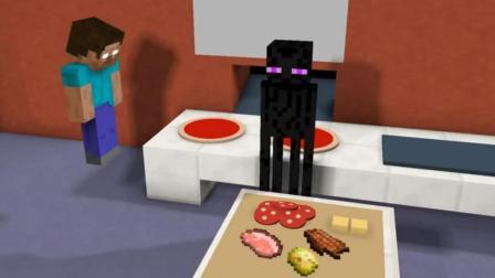 我的世界: 怪物学院制作披萨 老师这个恶作剧过分了