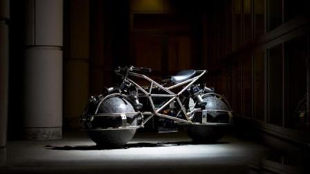 这超前卫的球形车轮摩托车, 可以横着开原地转弯, 还能磁体悬浮