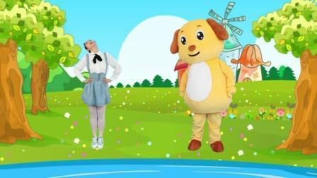 多吉律动儿歌:宝宝和爸爸去门前大桥数鸭子