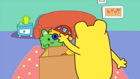 咕力咕力丫米果好习惯游戏: 宝宝自己喜欢的东西要收好
