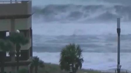 台风吹动海水, 海边的房子大都遭受侵袭!