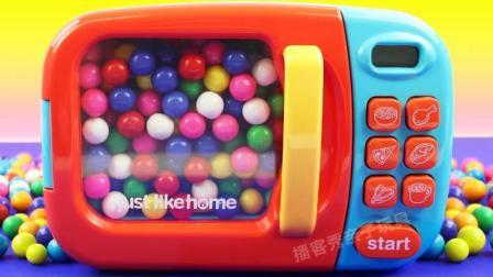 早教色彩认知彩虹糖豆魔力变身惊喜蛋? 培养宝宝想象力激发创造力
