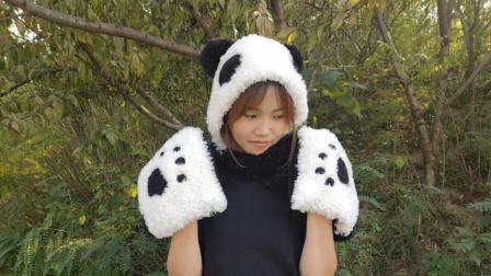 熊猫围巾第一集钩针部分编织教程与图解