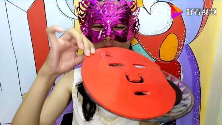 吃货面罩小姐姐, 吃面膜形状的彩色空心巧克力, 嘎嘣脆啊