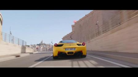 的士速递5这劫匪开着法拉利打劫, 但是这法国出租车真是快啊, 哈哈精彩的速度对绝完美