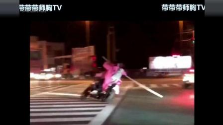 且看猖狂的日本暴走一族, 挑衅警察, 被撞成渣的下场