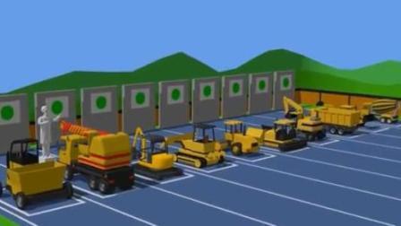 亲子益智工程车卡通 水泥搅拌车挖掘机翻斗车铲车压路机工作比赛