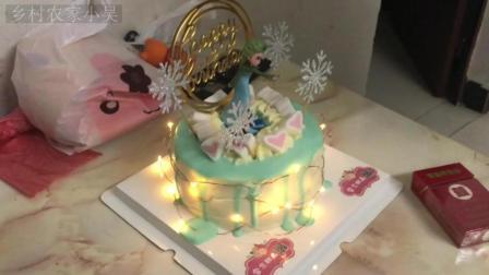 广东打工仔: 在出租屋庆祝, 买个生日蛋糕庆祝生日, 气氛满温馨的