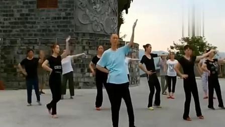 大爷能当上广场舞团的领舞者, 果然是有两把刷子