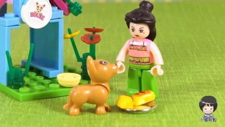 珍妮给小汪送好吃的喽