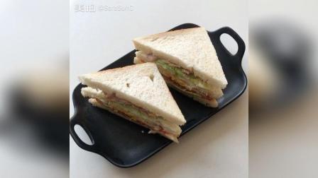 培根煎蛋三明治, 早餐真的喜欢吃三明治, 简单好吃还节省时间