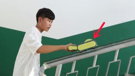 这个13岁少年厉害了! 发明爬楼神器, 打败2000名对手勇夺国际金奖