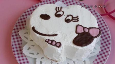 美味食谱, 可爱的小奶狗草莓蛋糕制作, 美好的一天从享受美食开始