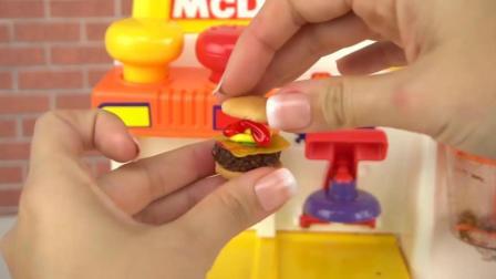 芭比娃娃麦当劳汉堡制造机玩具: 制作一个可以吃的汉堡吧