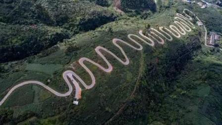天下第一弯路, 中国哪条路? 6.8公里有68个弯, 稍不注意车毁人亡