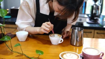 快速get咖啡拉花 咖啡教学视频 咖啡师培训
