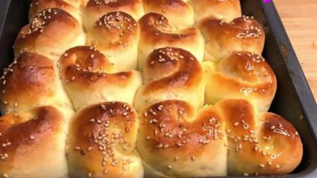 零难度的脆底蜂蜜小面包, 香甜松软, 超简单一学就会!