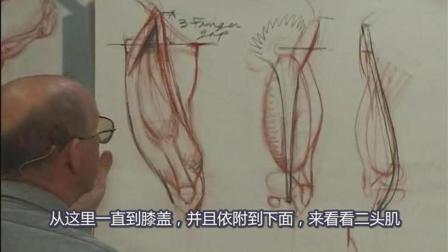 Glenn Vilppu 经典[大腿解剖素描].Upper.Leg教学讲解精细示范, 中文字幕版!