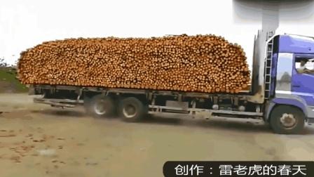 牛人大货车自卸, 看完这段视频, 我这么多年的车