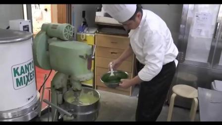 日本绿茶农场收获茶叶, 日本农业茶厂, 抹茶绿茶蛋糕