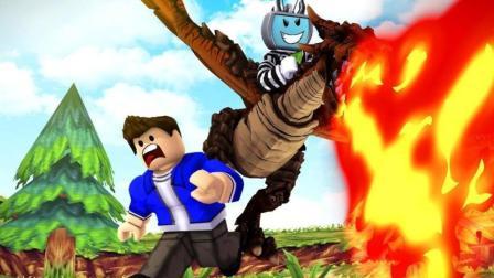 Roblox乐高小游戏小格解说 第一季 小格解说 Roblox 元素战争模拟器: 超级龙元素技能! 召唤巨龙攻击?