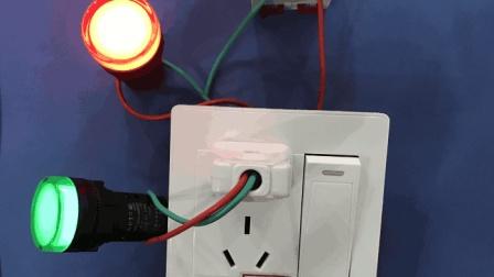 电工知识: 一开五孔如何让开关控灯, 实物接线, 实物讲解