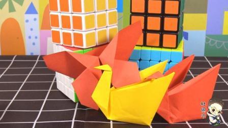 亲子手工折纸大全 第一季 折仙鹤收纳盒和蝴蝶书签