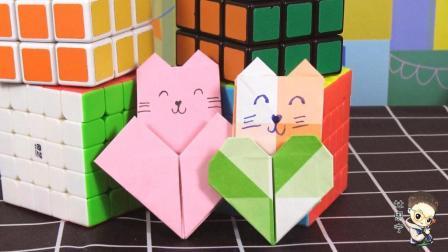 亲子手工折纸大全 第一季 折爱心书签
