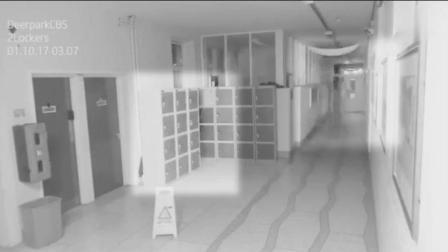 国外某学校监控拍摄的诡异一幕, 谁能解释一下啊?