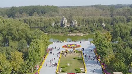 北京野生动物园自驾游客下车采山楂