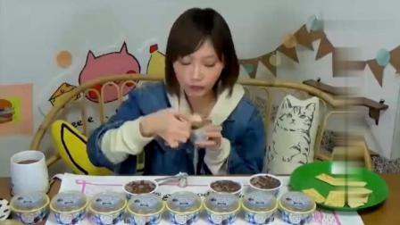 木下大胃王: 大王吃l20盒烤巧克力棉花糖口味的冰淇淋