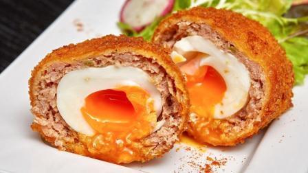 美食台 | 鸡蛋裹肉炸一炸, 绝妙!