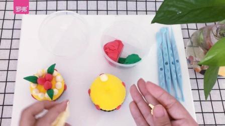 罗弗超轻粘土手工教程系列之草莓芝士蛋糕