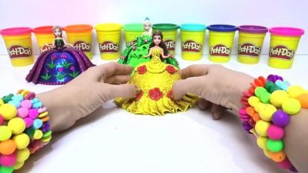 DIY手工橡皮泥制作 用彩泥给公主做漂亮的裙子61