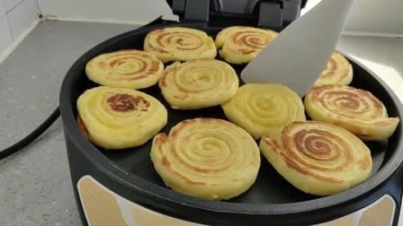 发面千层饼的做法, 发面不用水, 烙饼不用油, 宣软美味, 越嚼越香