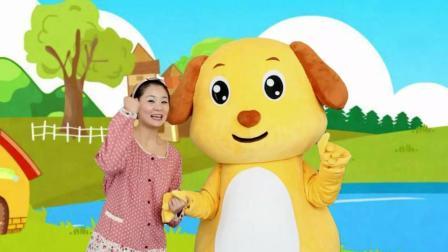 多吉律动儿歌:可爱的小熊一家和小毛驴做朋友